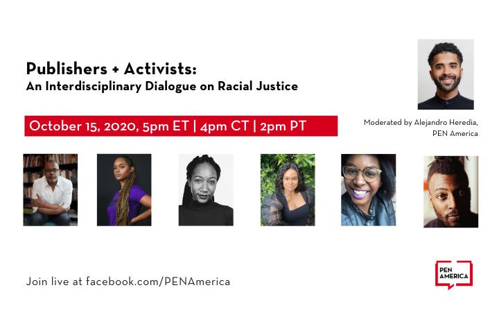 Publishers and Activists: event information and participant headshots