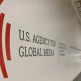USAGM logo on wall