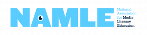 NAMLE full light blue logo
