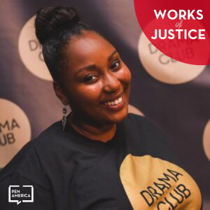 Works of Justice Podcast art with Dunasha Payne