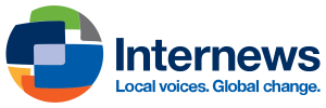 Blue Internews Logo