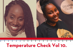Temperature Check Vol. 10 art with Ebony Underwood and Dunasha Payne