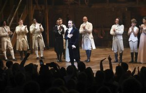Lin-Manuel Miranda taking final bows in center of stage