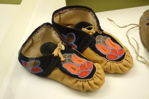 Ojibwe moccasins in the Wisconsin Historical Museum