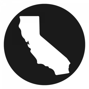Shape of California in a circle