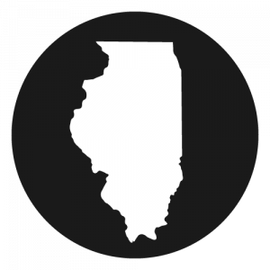 Shape of Illinois in a circle