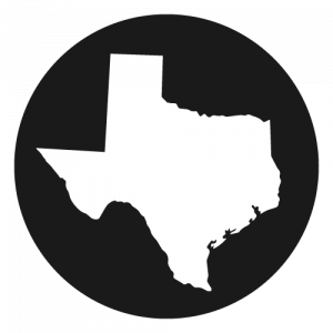 Shape of Texas in a circle