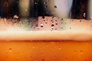 Hefe weizen beer in a plastic cup