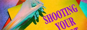"""Hand holding a pen over a yellow piece of paper. The piece of paper reads, in purple, """"Shooting Your Shot"""""""