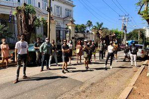 Artists from 27N movement who disappeared in front of the Ministry of Culture in Havana