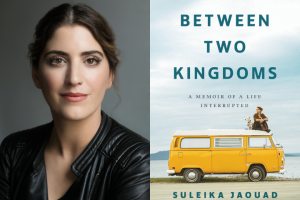 "Suleika Jaouad headshot and ""Between Two Kingdoms"" book cover"