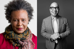 Headshots of Claudia Rankine and Darren Walker