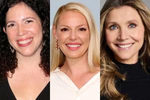 Headshots of Maggie Friedman, Katherine Heigl, and Sarah Chalke