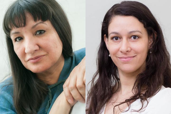 Sandra Cisneros and Jane Marchant headshots