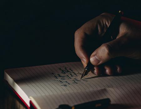 Unsplash Writing In Journal 450x350
