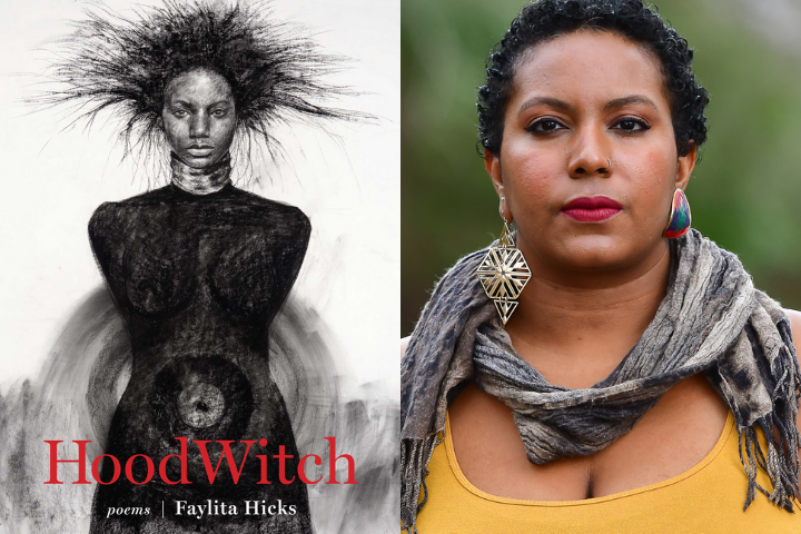 HoodWitch book cover and Faylita Hicks headshot