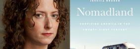 "Jess Bruder headshot and ""Nomadland"" book cover"