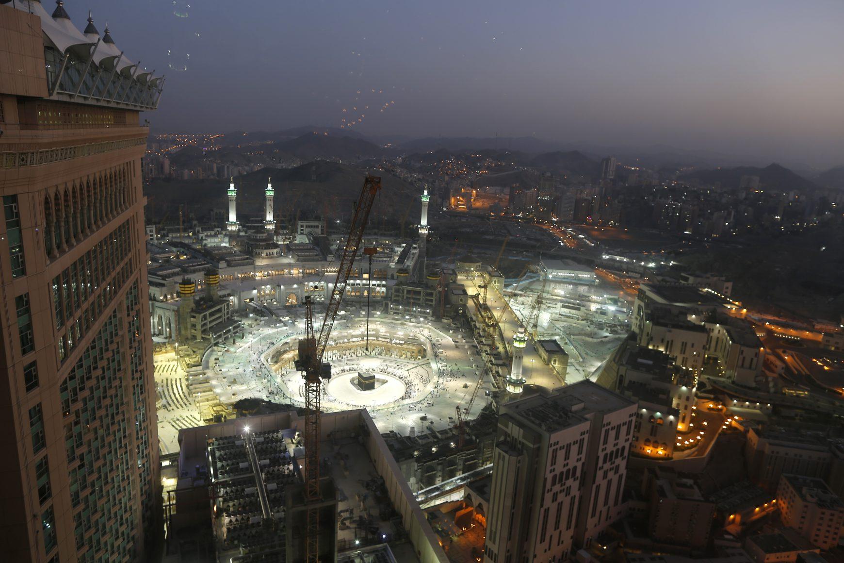 The Grand Mosque, in the Muslim holy city of Mecca, Saudi Arabia