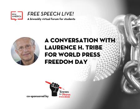 Free Speech Live World Press Freedom Day Event Graphic 450x350