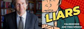 """Cass Sunstein headshot and """"Liars"""" book cover"""