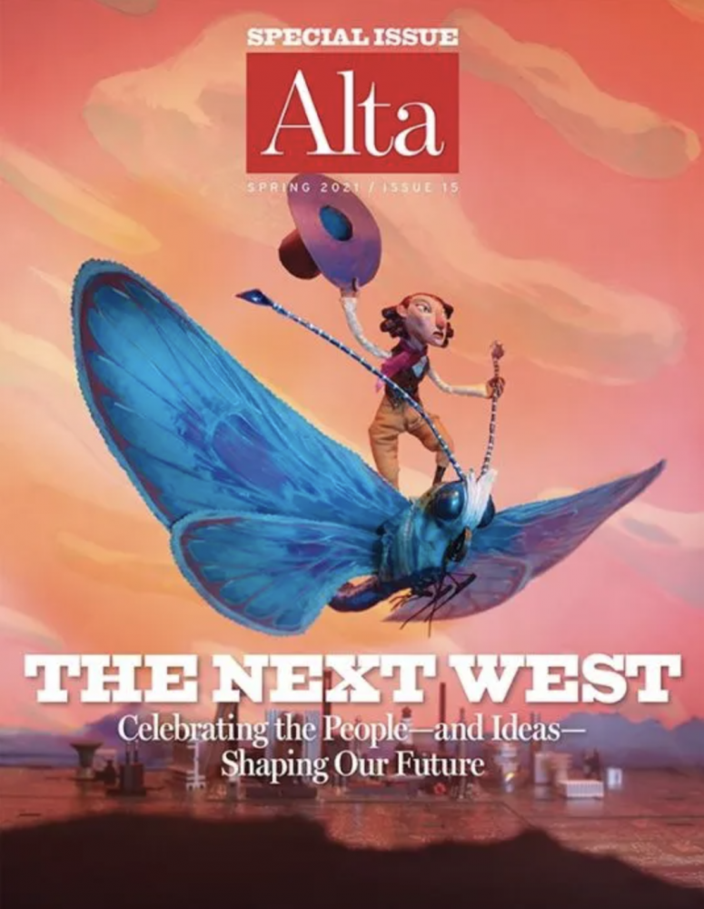 """""""The Next West"""" issue cover of Alta Magazine"""
