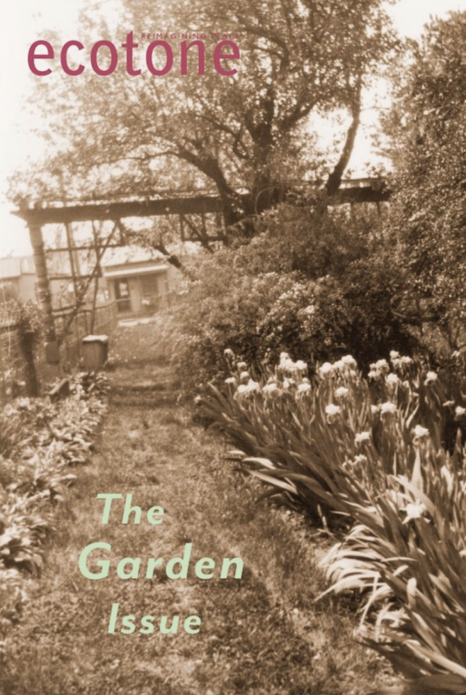 """""""The Garden"""" issue cover of Ecotone"""
