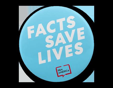 Facts Save Lives Button Pen Logo