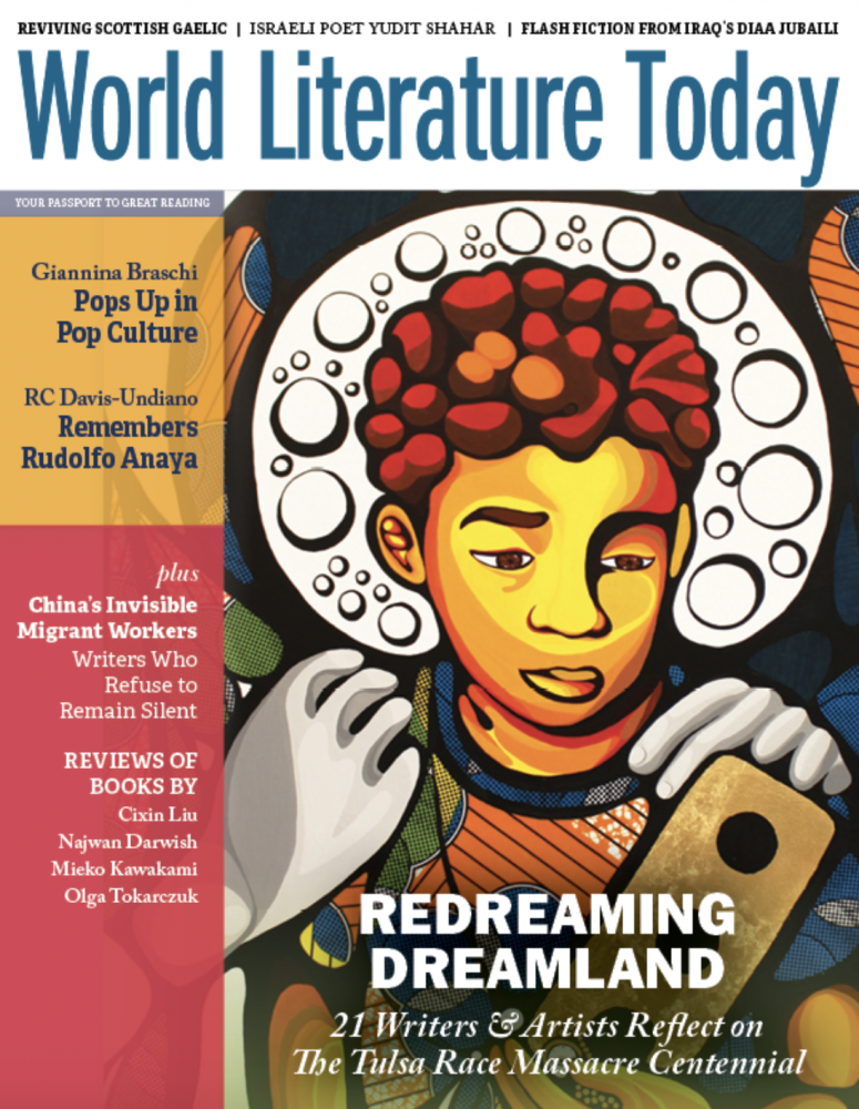 """""""Redreaming Dreamland"""" issue cover of World Literature Today"""