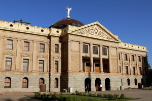 facade of the Arizona state capitol building