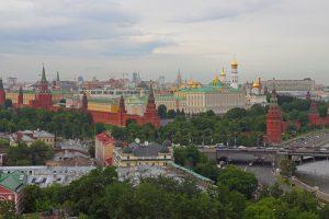 aerial view of the Kremlin