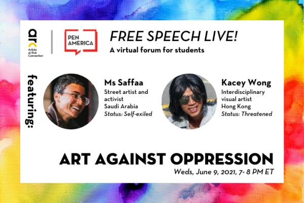 [VIRTUAL] Free Speech Live!: Art Against Oppression
