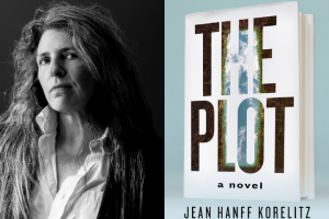 "Jean Hanff Korelitz headshot and ""The Plot"" book cover"