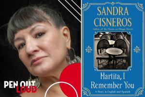 Sandra Cisneros headshot and Martita, I Remember You book cover