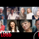 Headshots of PEN Out Loud speakers and interlocutors surrounded by assorted shapes and PEN Out Loud logo: Wole Soyinka, Farah Jasmine Griffin, Hillary Rodham Clinton and Louise Penny, and Susan Choi (first row); Pamela Paul, Lauren Oyler, Sandra Cisneros, and Jaime Manrique (second row)