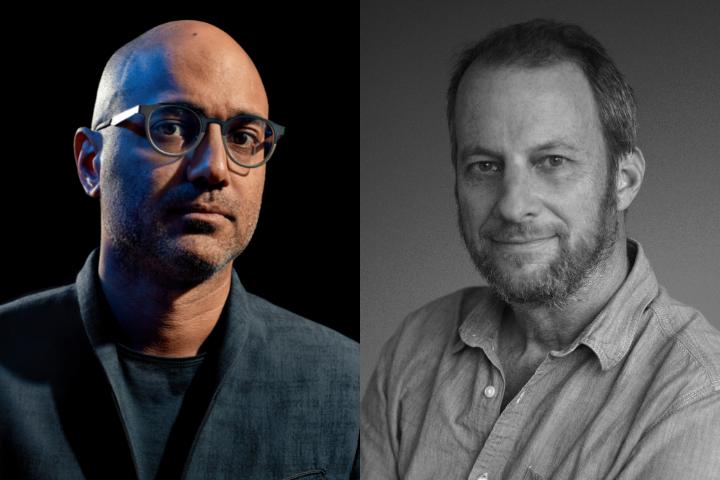 Ayad Akhtar and George Packer headshots