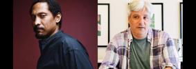 "Percival Everett and David L. Ulin headshots; on top: ""PEN Presents: Percival Everett with David L. Ulin"""