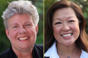 Gail Newel and Mimi Hall headshots