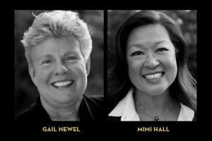 graphic of headshots showing Mimi Hall and Gail Newel