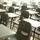Rows of chairs in a classroom