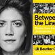 """Uli Beutter Cohen headshot and """"Between the Lines"""" book cover"""