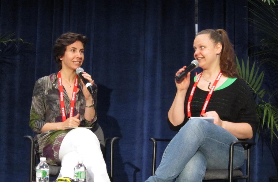 Panel 2: Allison Markin Powell (left) with Juliet Grames