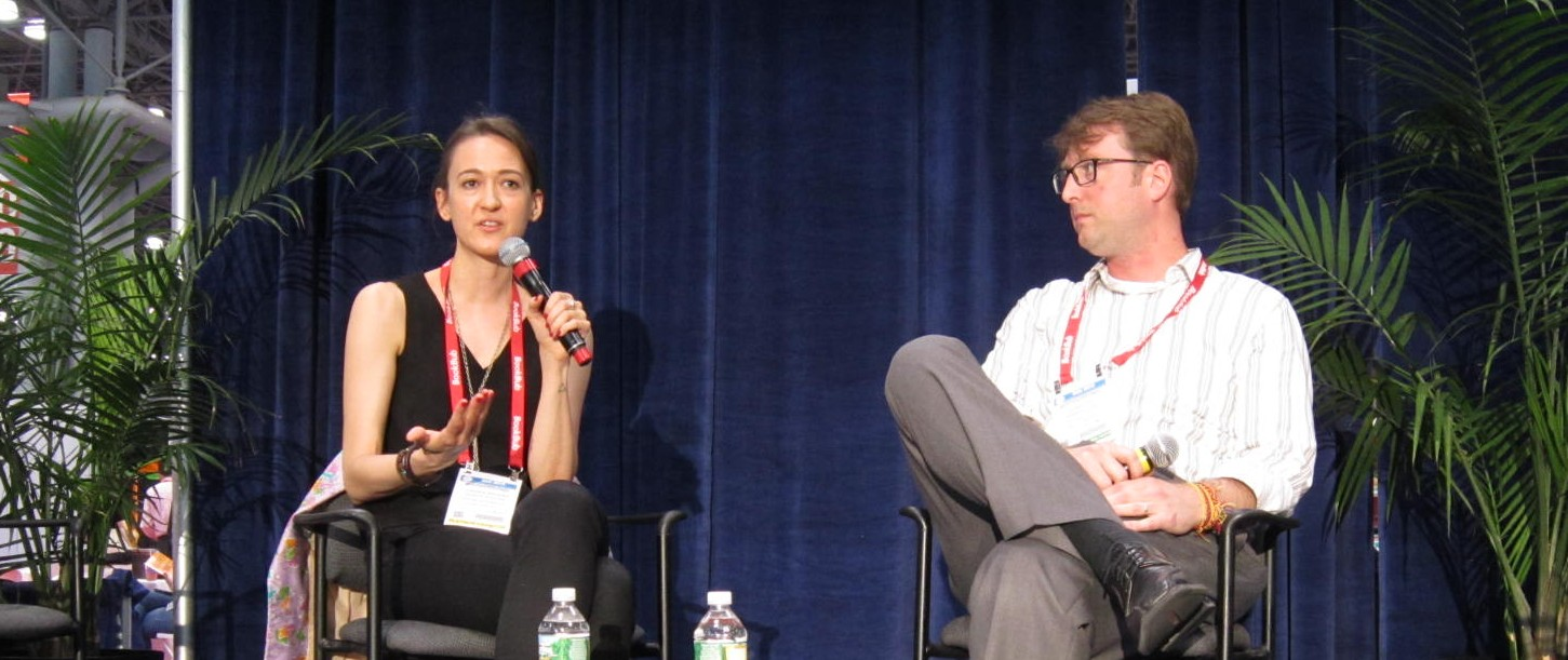 Panel 3: Corinna Barsan (left) and Ezra Fitz